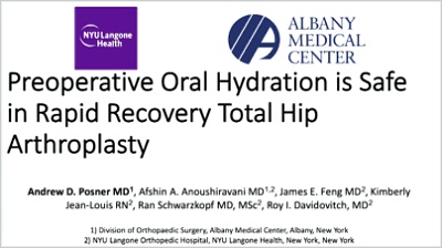 ICJR ABSTRACTS: Preoperative Oral Hydration Is Safe in Rapid